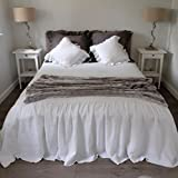 Linen Coverlet, Linen Bedspread, Linen Bed Cover, Queen Coverlet, King Coverlet. Farmhouse Decor. Gorgeous!