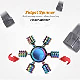 SCIONE Fidget Spinner Metal 5 Pack Stainless