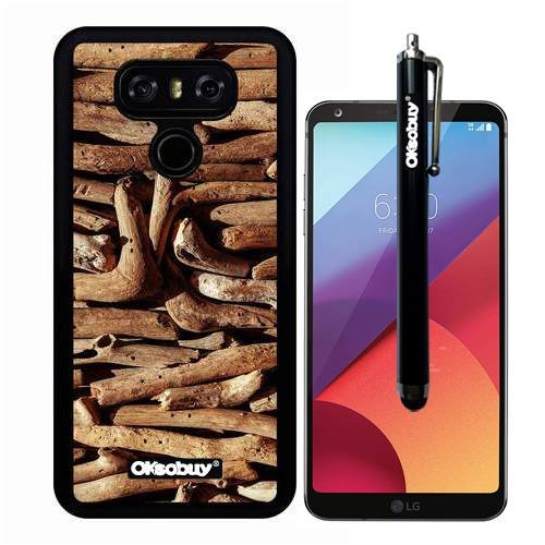 - G6 Case, Yellow Roots Collection Wood Texture Case, OkSoBuy(R) Ultra Thin Soft Silicone Case for LG G6 - Yellow Roots Collection Wood Texture
