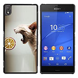 Vortex Accessory Hard Protective Case Skin Cover For Sony Sony Xperia Z3 - Sphynx Oriental Cat Skinless Breed Lollipop