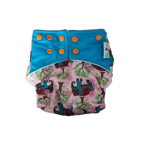 Allboutbaby Reusable pocket Cloth Diaper with stay dry insert- royal rajasthan
