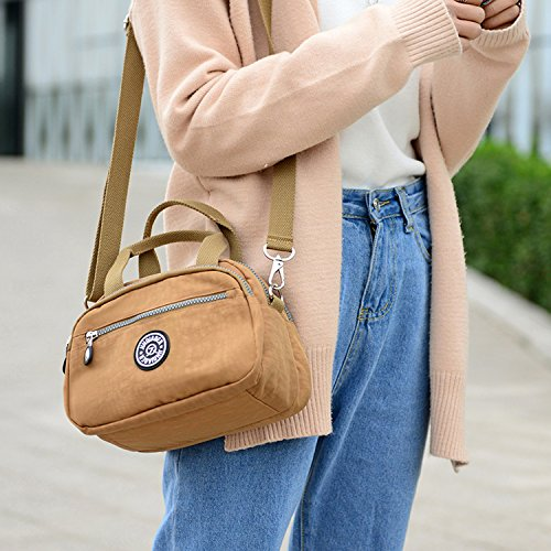 for Lightweight Outreo Messenger Shoulder Bag Satchel Women Girls Small Bag Green Waterproof Sport Cross Bag Side Casual Body Handbag Bag wq6wt8r