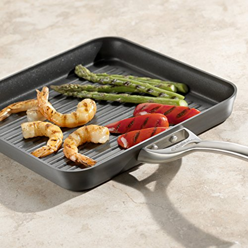 Calphalon Contemporary Hard-Anodized Aluminum Nonstick Cookware, Square Grill Pan, 11-inch, Black by Calphalon (Image #4)