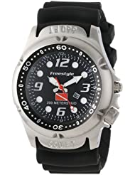Freestyle Mens 101947 Hammer Hear Analog Display Japanese Quartz Black Watch