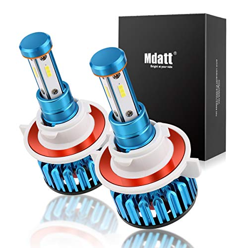 Mdatt H13/9008 LED Headlight Bulbs - 100W 12000LM - High/Low Beam,Fog Light Bulb Conversion Kit - DOT Approved - 360 Degree - IP68 Waterpoorf