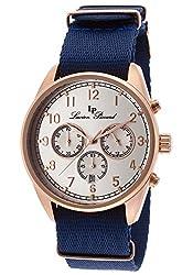 Lucien Piccard Men's LP-10588N-RG-02S-BL Moderna Analog Display Japanese Quartz Blue Watch
