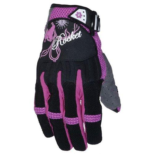 Joe Rocket Heartbreaker Women's Textile Street Motorcycle Gloves - Black/Purple / Small