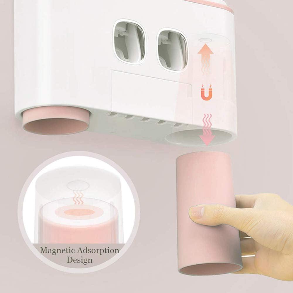 Dentifrice Porte-Mur Case Porte Brosse /à Dents avec 5 Set Brosse /à Dents Machines /à sous 2 Dentifrice Automatique et 4 distributeurs Coupe TiooDre Porte-Brosse /à Dents