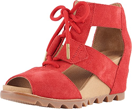 Lace Up Sandals, Bright Red, Size 7.0 ()