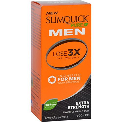 Burn Calories (Slimquick Pure - For Men - Extra Strength - Reduce Appetite - Burn Calories - Increase Energy - 60 Capsules (Pack of 2))