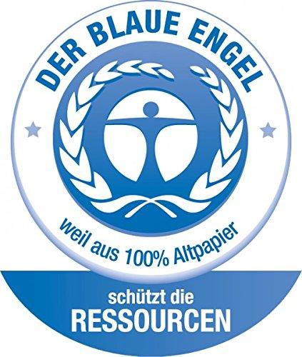 FSC Mix Aufh/änge/öse schwarz Klemmbrett A4 Blauer Engel lackierter Papierbezug vernickelte Klemmmechanik mit 1 St/ück Herlitz