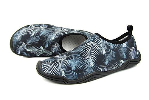 FOUPLER Men Womens Mutifunctional Quick Dry Skin Water Shoes Or Aqua Socks For Swim Yoga Beach Pool 3.gray RWHAx