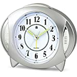 YOUOWO Analog Alarm Clock Kids Clock Small Travel Loud Alarm Clock Kitchen Clocks Non Ticking with Night light Easy to Set Battery Operated Quartz for Bedrooms Desk