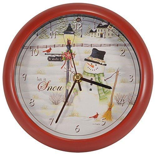 Mark Feldstein & Associates Let it Snow Lisa Kennedy Penny Lane Holiday Clock, -