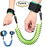 Accmor Child Anti-Lost Wrist Link, Super Cosy Outdoor Safety Baby Toddler Leash (59inch Blue + 98inch Green) [Upgraded Version, 2 Pack]