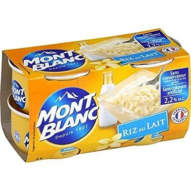 Mont Blanc - Arroz De Leche 4X125G - Riz Au Lait 4X125G - Precio Por Unidad - Entrega Rápida: Amazon.es: Alimentación y bebidas