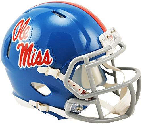 Sports Memorabilia Riddell Ole Miss Rebels Powder Blue Revolution Speed Mini Football Helmet - College Mini Helmets