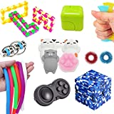 The Ultimate Sensory Toys Bundle 18 Pack Fidget Toys Stress Relief Slime/Infinity Cube/Squishies Toys/Fidget Ring for Kids&Adult Add ADHD