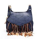 Womens Handbag and Purses Blue Bohemian Tote Shoulder Bag