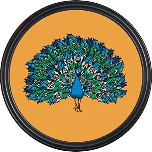RAG28 14 Inch Round Framed Painting for Home Living Room Of