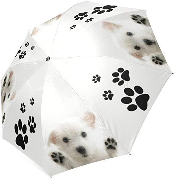 NA Very Cute Dog Automatic Tri-fold Umbrella Inside Print One Size