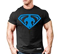 Monsta Clothing Co. Mens Bodybuilding Workout (MuscleSymbol) Fitness Gym T-Shirt