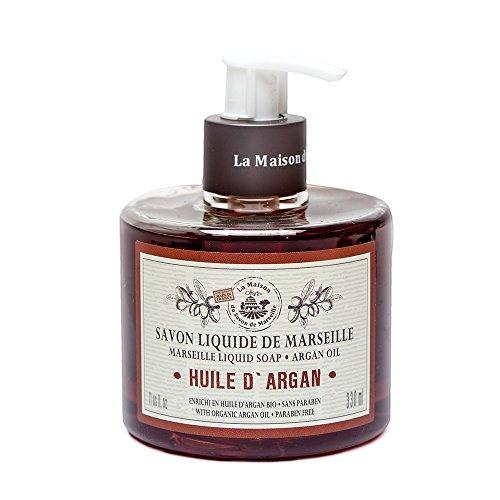 シャックル指安価なSavon de Marseille Liquid Soap,Organic Argan oil 330ml