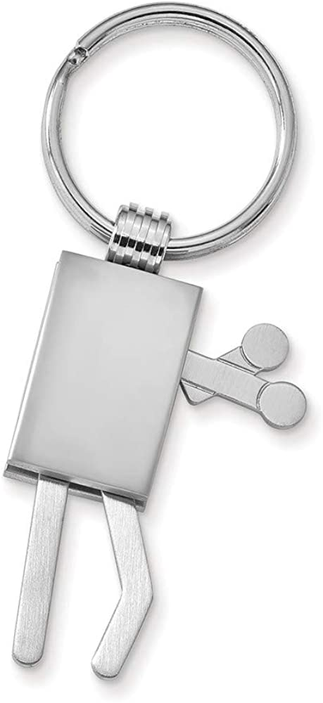 FB Jewels Solid Silver-Tone Action Figure Key Ring