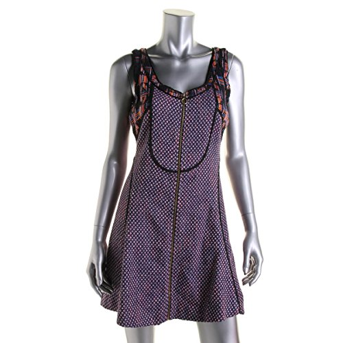 RACHEL Rachel Roy Tweed Sleeveless Mini Party Dress, Navy Multi, Size 2 Tweed Mini Dress