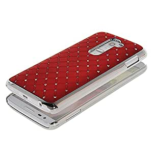 G2 Case, GETLAST [Red] Beautiful Shiny Crystal Case Bling Cover Hard Armor for LG G2