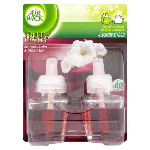 Air Wick Plug in Refill Air Freshener, Smooth Satin and Moon Lily, 2 x 17 ml (34 ml)