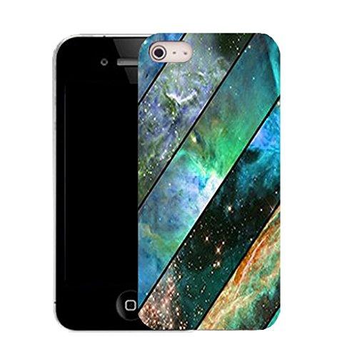 Mobile Case Mate IPhone 5S clip on Silicone Coque couverture case cover Pare-chocs + STYLET - aqua grain pattern (SILICON)
