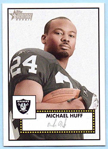 2006 Topps Heritage Rookie Card (Michael Huff 2006 Topps Heritage Rookie Short Print #54 - Oakland Raiders, SP)