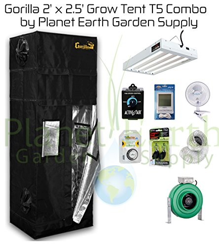 2u2032 x 2.5u2032 Gorilla Grow Tent Kit T5 Com.  sc 1 st  Pot Farmers Mart : grow tents complete kits - memphite.com