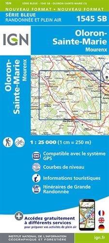 1545SB OLORON STE MARIE MOURENX Carte – Carte pliée, 26 mai 2016 COLLECTIF IGN 2758536188 Karten / Stadtpläne / Europa