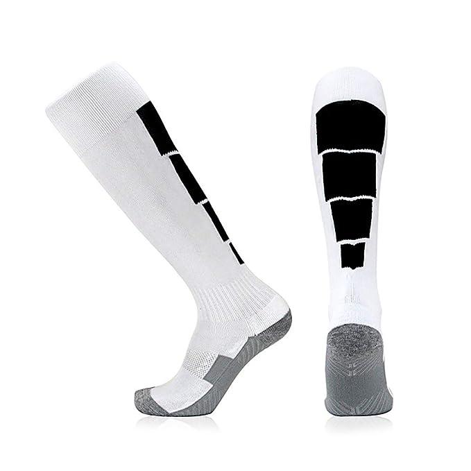 Elite Fútbol calcetines deportivos Calcetines sudor absorbente calcetines largos del tubo 1 par de calcetines respirables de los hombres el rendimiento ...