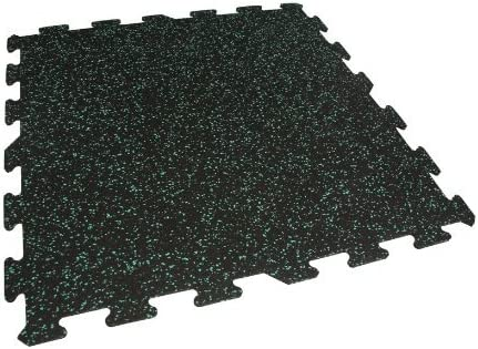 Teal, 9 Pack - 36 Sqft IncStores Energy Rubber Tile Flooring Equipment Mats