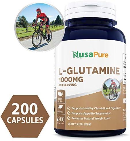 L Glutamine Capsules NON GMO Maximum Strength product image