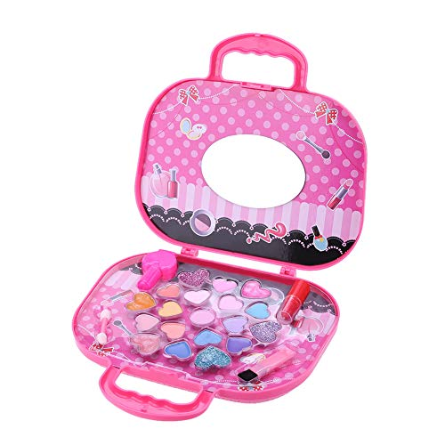 Pretend Play Makeup Kit for Girls with Cosmetic Bag,Real Washable & Non ToxicToddler Toys -