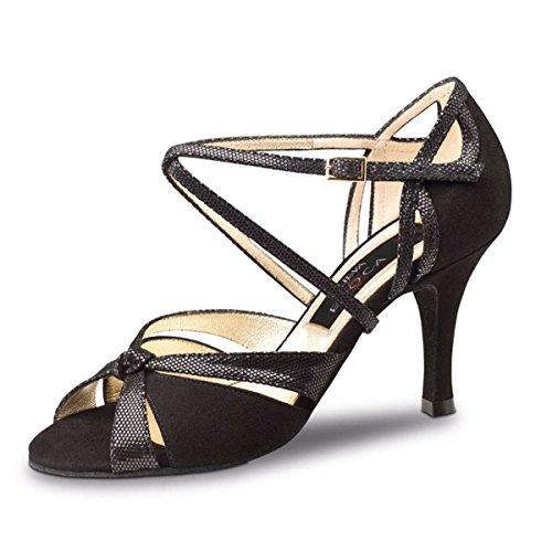 Zapatos De Tango Y Salsa Sienna De Nueva Epoca Negro 7 Cm
