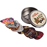 12x Alice Guitar Picks - Small Round Tin - Various Colours and Sizes