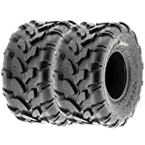 SunF 20x10-8 20x10x8 ATV UTV All Terrain Trail Replacement 6 PR Tubeless Tires A003, [Set of 2]