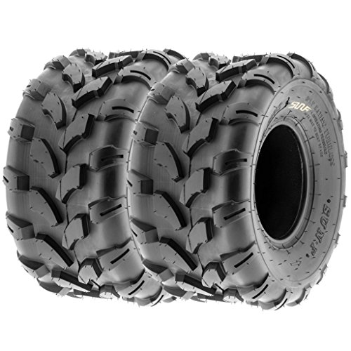 SunF 20×10-8 20x10x8 ATV UTV All Terrain Trail Replacement 6 PR Tubeless Tires A003, [Set of 2]