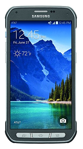 Samsung Galaxy S5 Active G870a 16GB Unlocked GSM Extremely Durable Rugged Smartphone w/ 16MP Camera - (Certified Refurbished) (Titanium Gray)