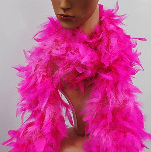 Feather Boa Hot Fuchsia Pink Flapper Race For Life Hen Night Accessory U07158 uk