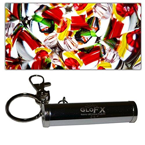 GloFX Kaleidoscope Keychain - Metal and Glass - Portable Kaleidoscopic Monocle Eye Piece - Key Ring Small