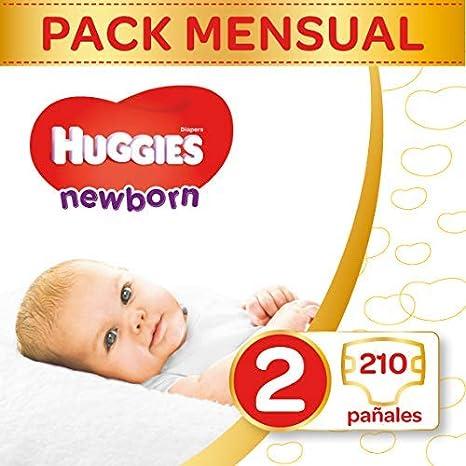Huggies Newborn Pañales Recién Nacido Talla 2 (3-6 kg) - 210 pañales: Amazon.es: Salud y cuidado personal