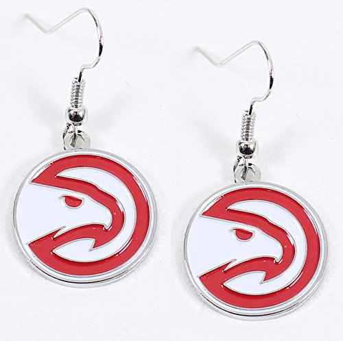 Atlanta Hawks - NBA Team Logo Dangler Earrings by aminco