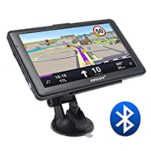 AWESAFE GPS Navigation for Car 7 inches Bluetooth 8GB Capacitive Sat Nav and Touchscreen System North America with Lifetime Map Updates