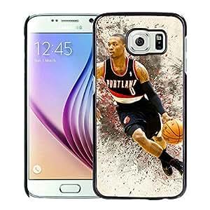 New Custom Design Cover Case For Samsung Galaxy S6 Portland Trail Blazers damian lillard 4 Black Phone Case Kimberly Kurzendoerfer